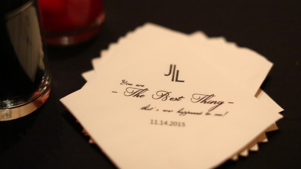We love these fun printed bar napkins.
