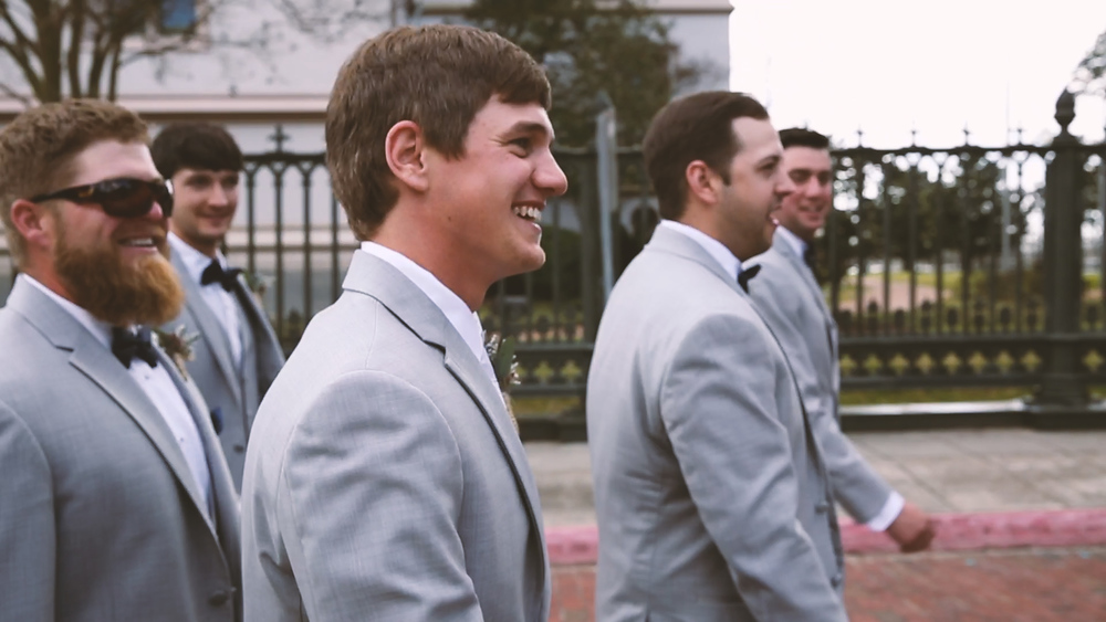 The groom had fun hanging with his friends before the ceremony.