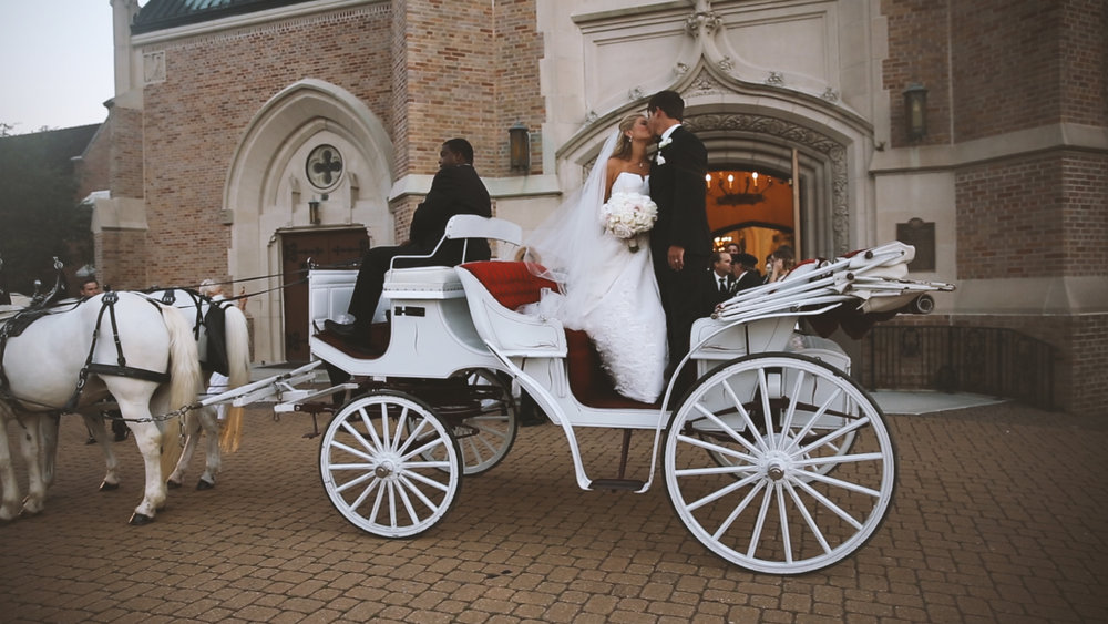 Horse and Carriage Exit - Bride Film
