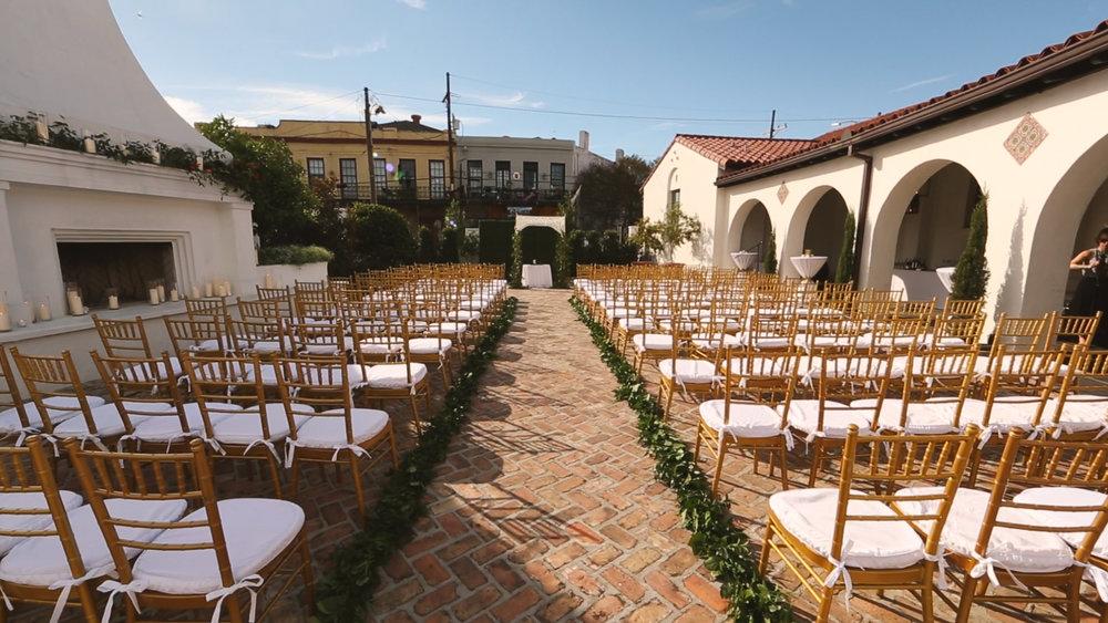 New Orleans Courtyard - Bride Film