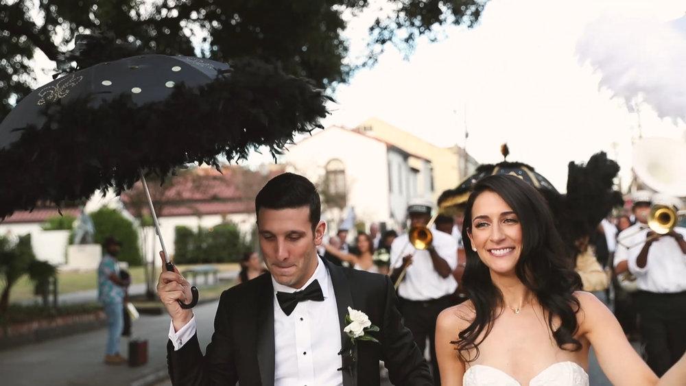 Second Line Umbrellas - Bride Film
