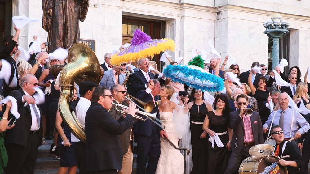 Watch Holly and Dale's New Orleans French Quarter Bride Film HERE.