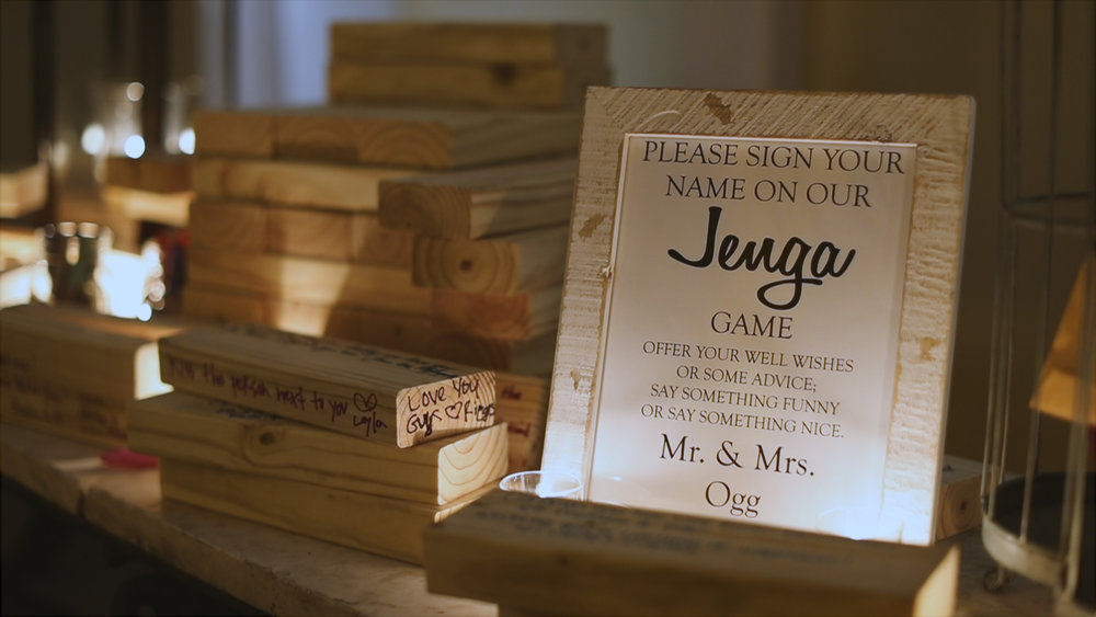 Gabby and Patrick_Wedding Jenga 1