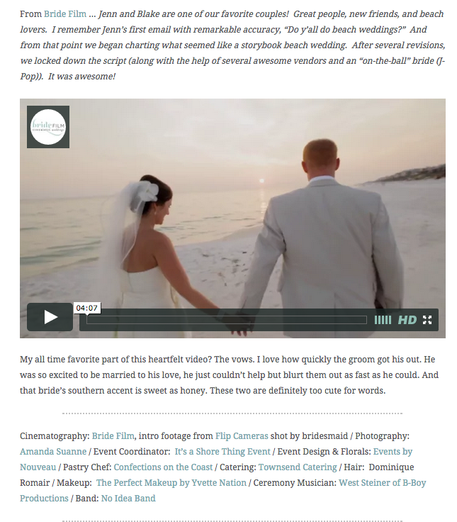 Rosemary Beach Wedding Video