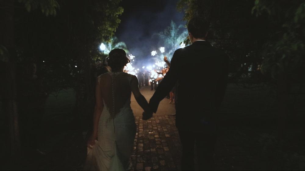 Destination Wedding Videography_Bride Film_Houmas House Plantation_sparker exit wedding