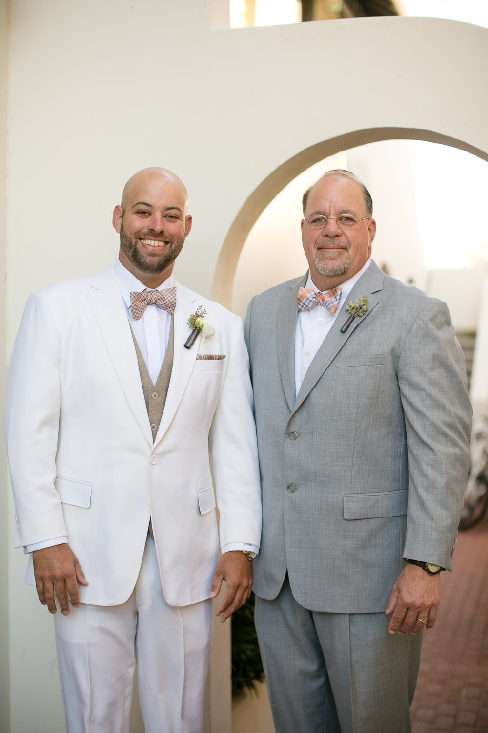 Eddie Marroquin captured this awesome photo of Chris and his Dad before our wedding.