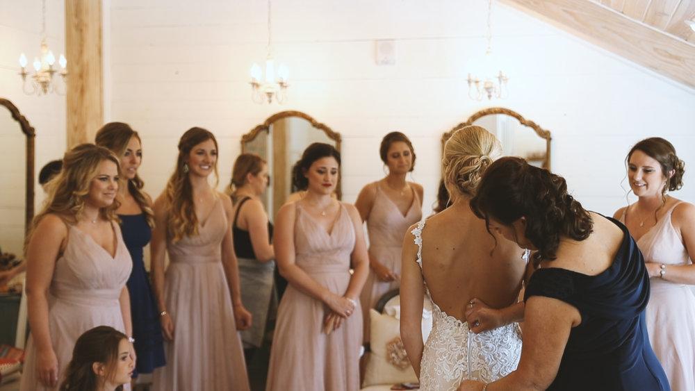 Amanda and Hayden_The White Magnolia Farm Weddings_New Orleans videographer_Bride backless wedding dress