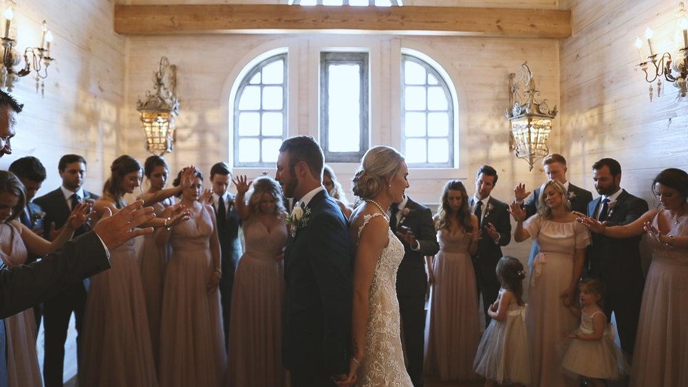 Amanda and Hayden_The White Magnolia Farm Weddings_New Orleans videographer_Wedding prayer first look