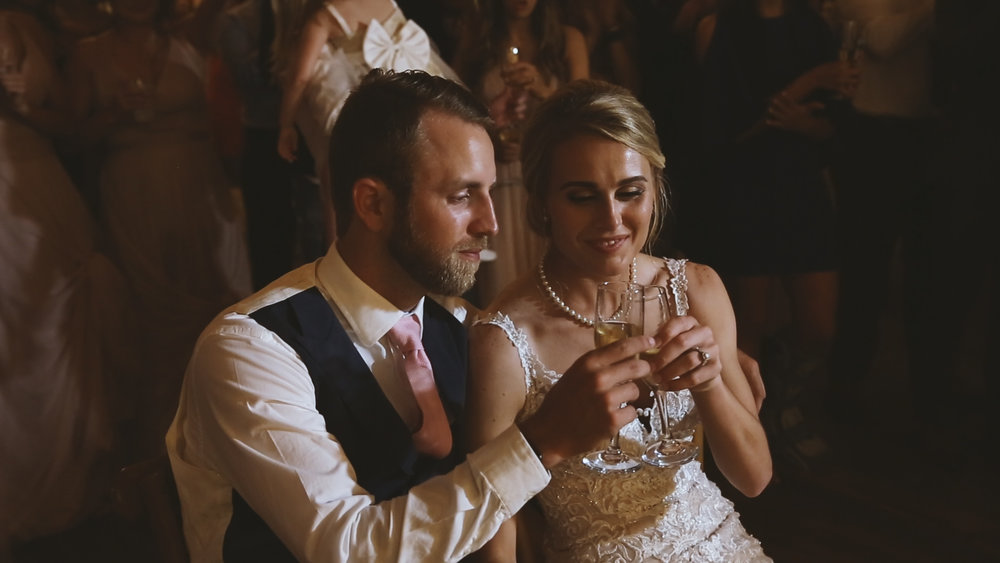 Amanda and Hayden_The White Magnolia Farm Weddings_New Orleans videographer_bride and groom toast