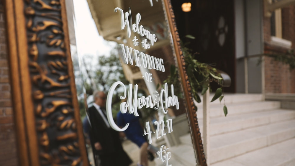Colleen and Charles_Urban Contemporary Arts Center Wedding_New Orleans videographer_wedding sign