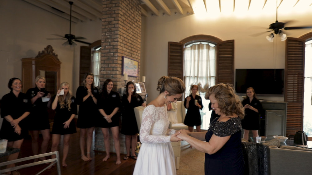 New Orleans Wedding Videography_Marianne and Clark_First look with mom