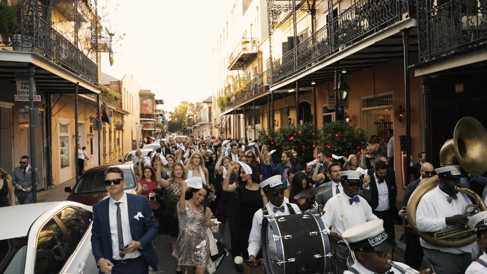 Annalisa and Anthony_New Orleans Wedding videography_second line french quarter
