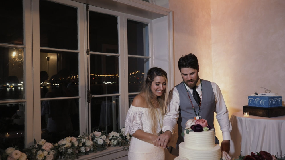 Annalisa and Anthony_New Orleans Wedding videography_cake cutting marche