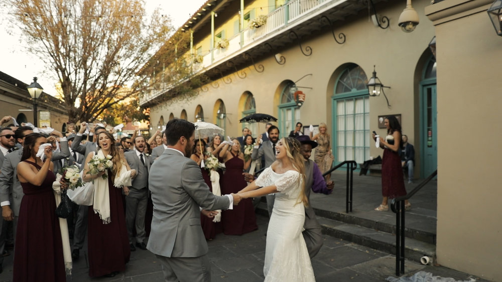 Annalisa and Anthony_New Orleans Wedding videography_second line marche