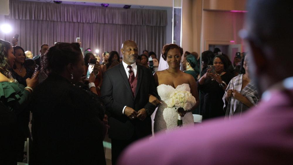 New Orleans Wedding video_Fallon and Devon_Jaxson wedding aisle