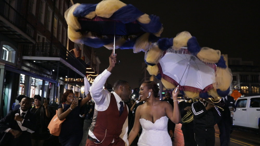 New Orleans Wedding video_Fallon and Devon_Second line