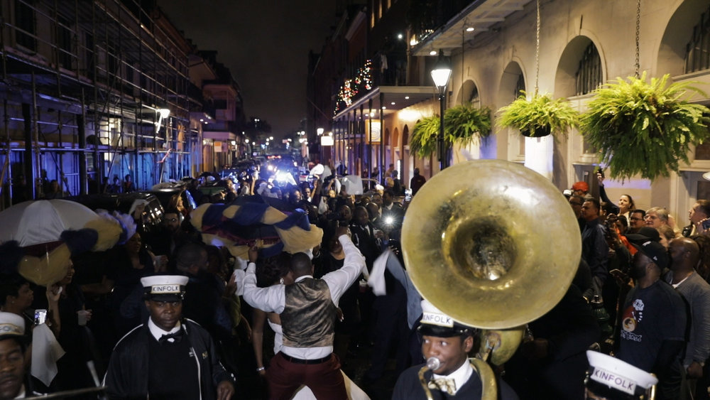 New Orleans Wedding video_Fallon and Devon_Second line kinfolk french quarter