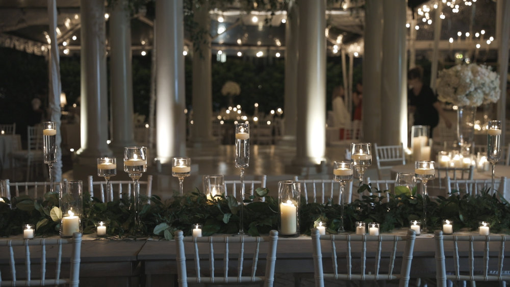New Orleans Wedding Video_Elms Mansion_Paige and Travis_reception table decor