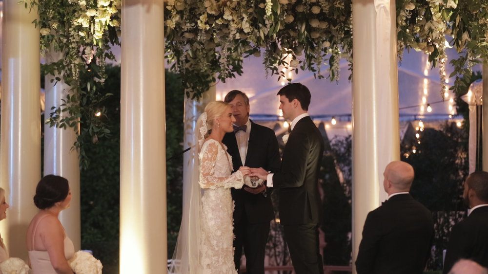 New Orleans Wedding Video_Elms Mansion_Paige and Travis_outdoor ceremony vows