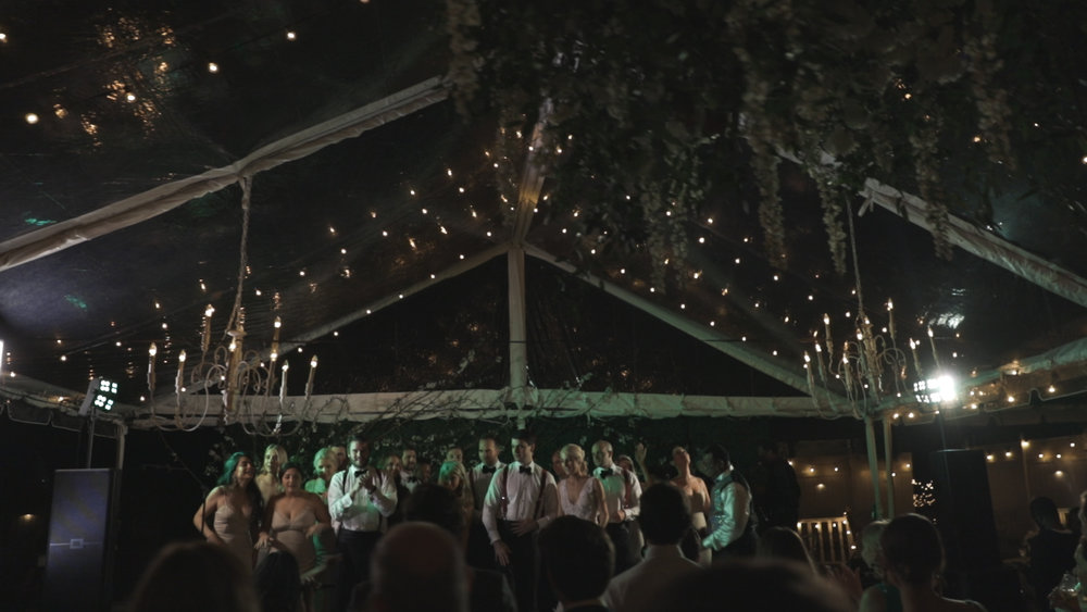 New Orleans Wedding Video_Elms Mansion_Paige and Travis_clear tent reception
