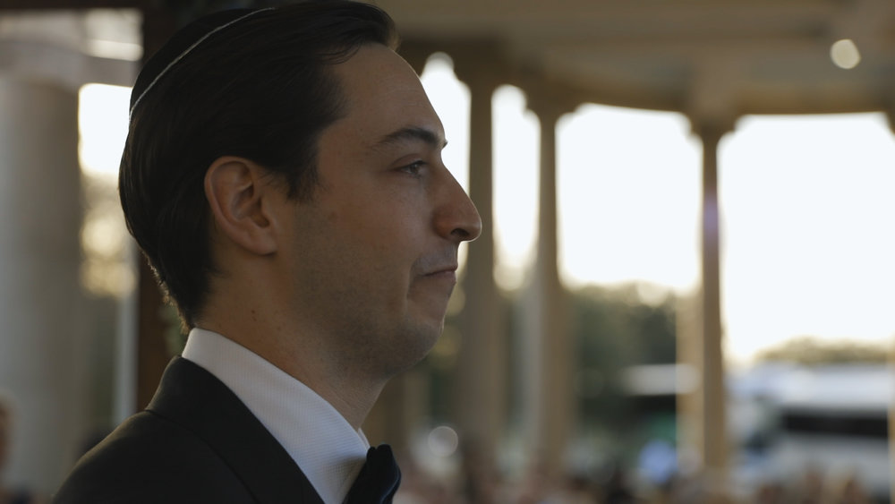 Anya and Max_New Orleans Wedding Video_Bride Film_Peristyle City Park_Ceremony groom reaction