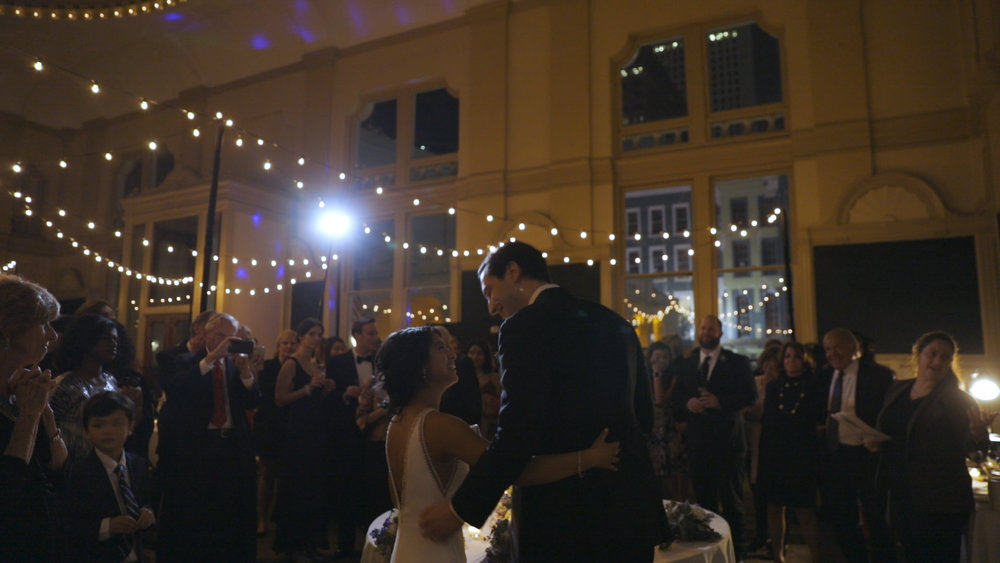 Anya and Max_New Orleans Wedding Video_Bride Film_Board of Trade reception_toast