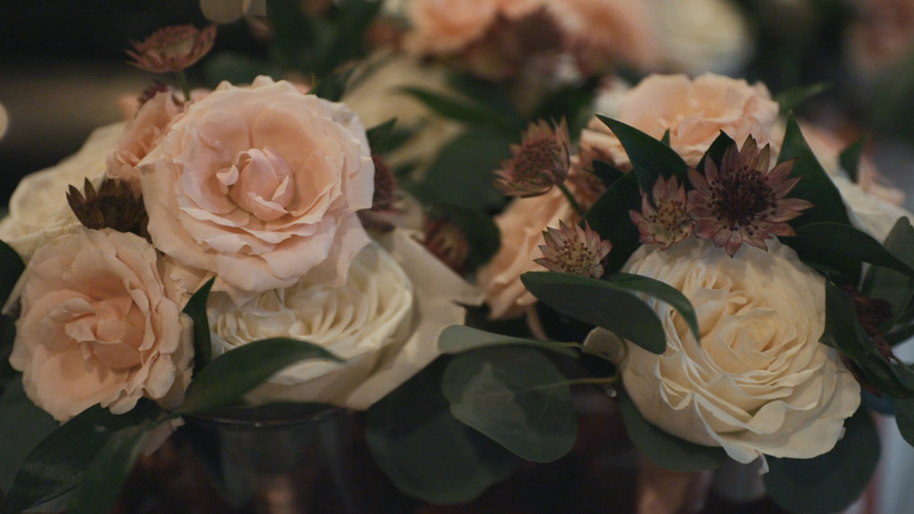 Blush and White Wedding Flowers - Bride Film