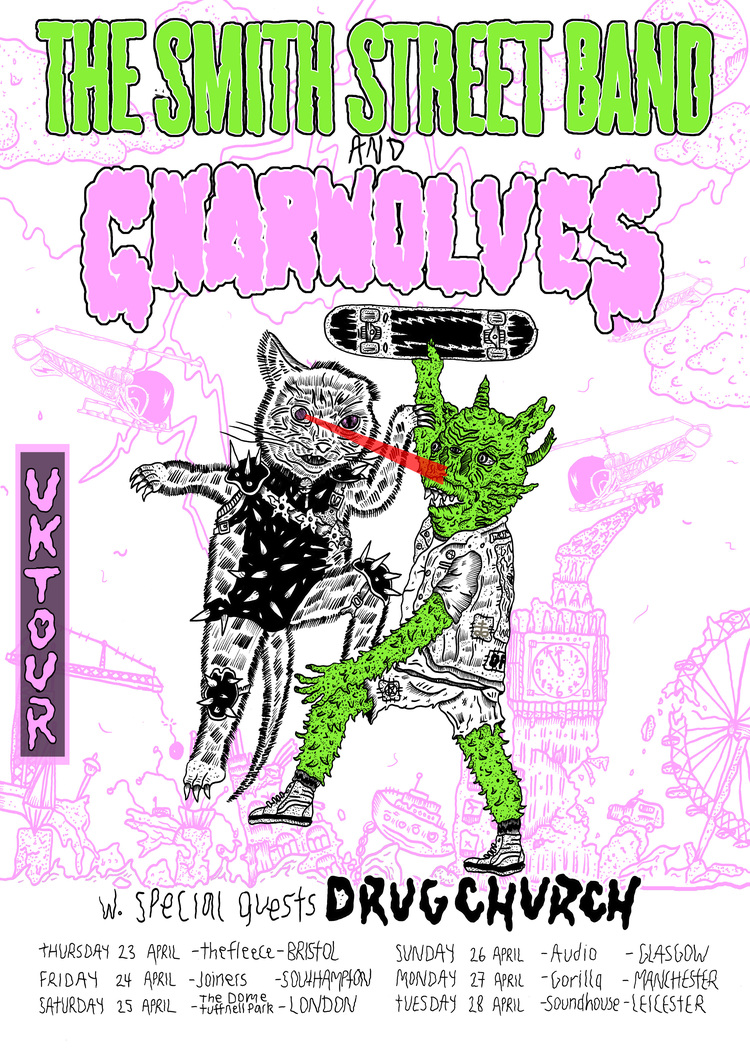 Smith Street Band/Gnarwolves Uk Tour - April 2015.