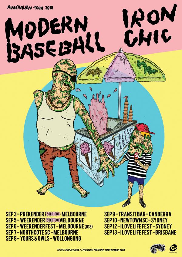 Iron Chic/Modern Baseball Australian Tour