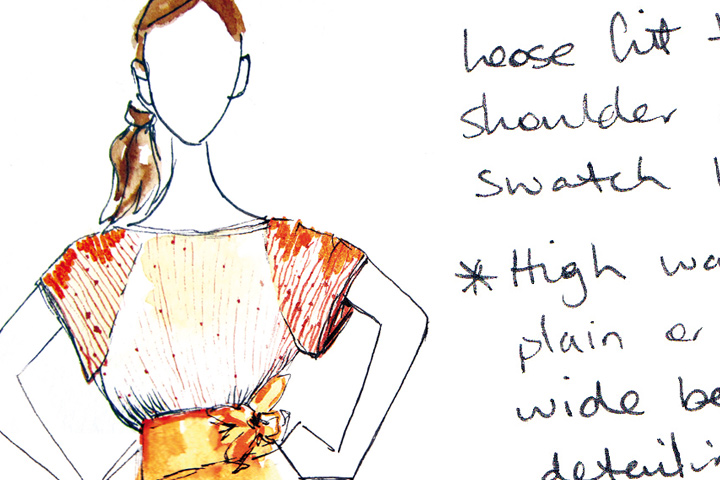 INSPIRATION: Hand drawn fashion illustration