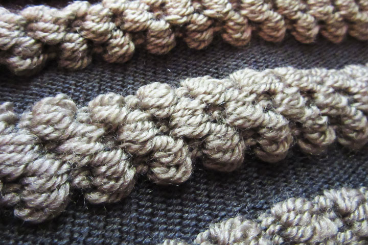 OUTCOME: Knit with patterned weaving in