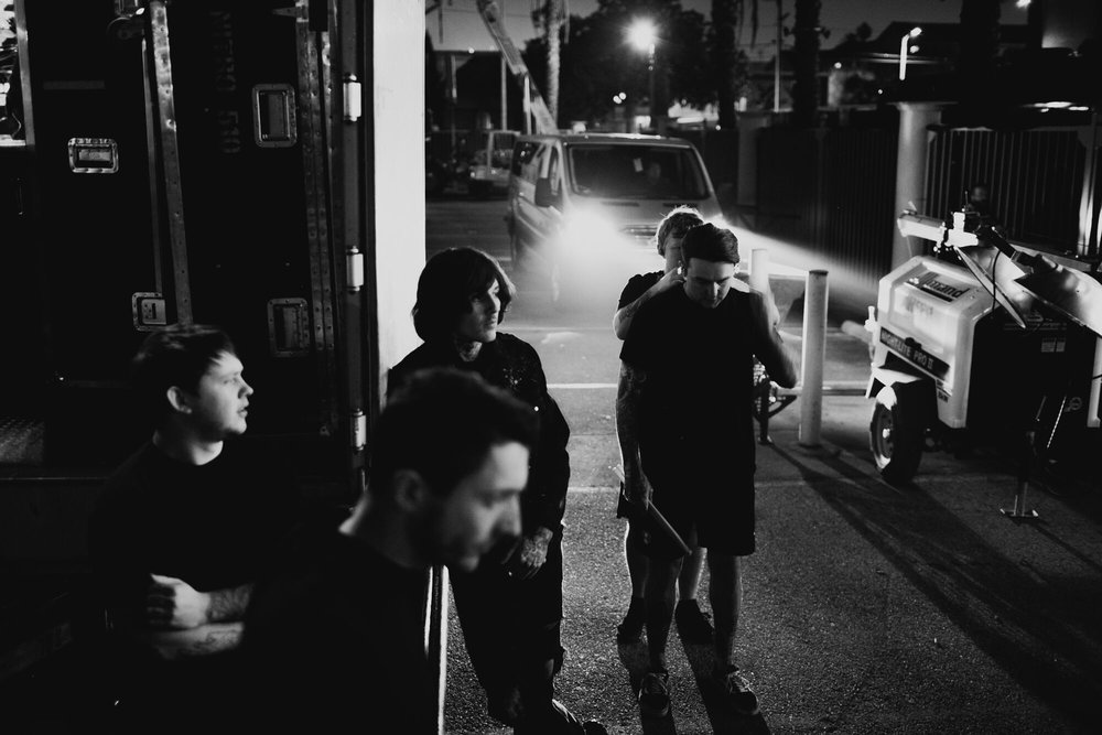 Pre-Show in Los Angeles (thankful for those headlights)