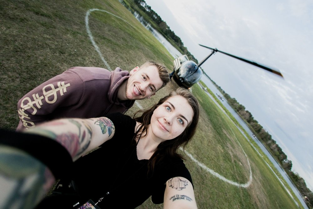 Tommy & I pre-heliocopter
