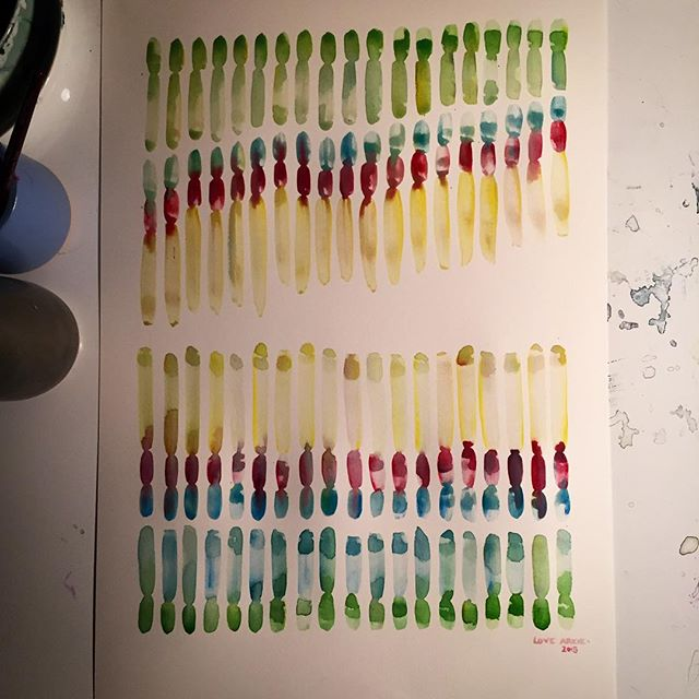 #NowDrying A new work in the mantra series 'Be kind - you are enough' // #watercolour #watercolor #artwork #painting #paper #mantra #inthestudio #ampainting #kindness #motherhood #newwork #green #blue #pink #yellow