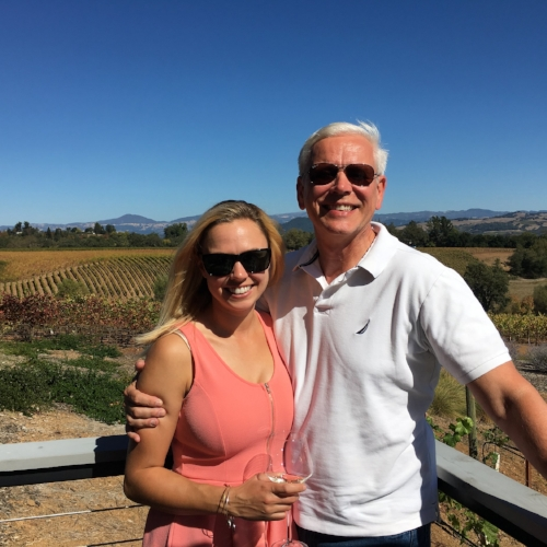 My Dad and I celebrating Father's Day 2016 in Sonoma County at  MacRostie Winery & Vineyards . My family really hates that they have to come to California to see me on these special occasions  :)