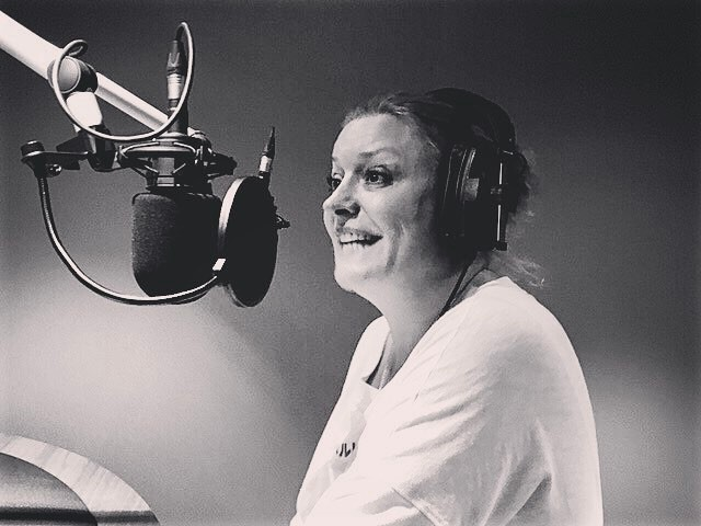 Fab end to the week. Voice work with the dulcet smiley tones of Laurie Brett. Thanks for the visit 😘 #artofvoiceover