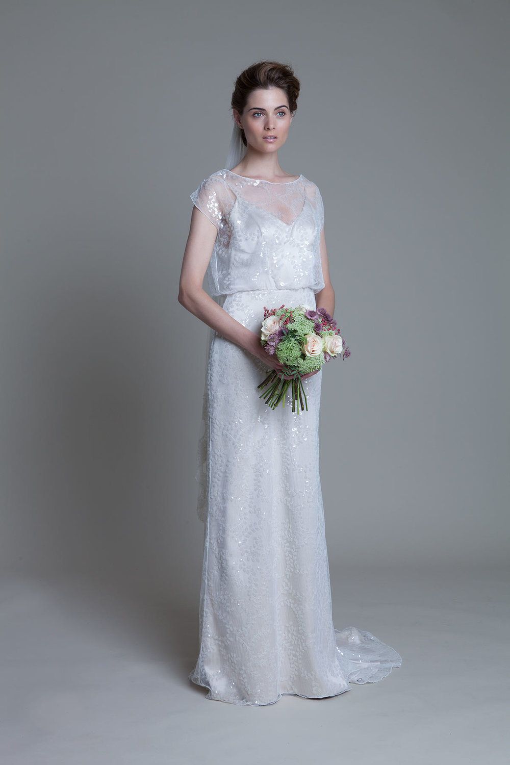 Lydia sequin ivory wedding dress by Halfpenny London