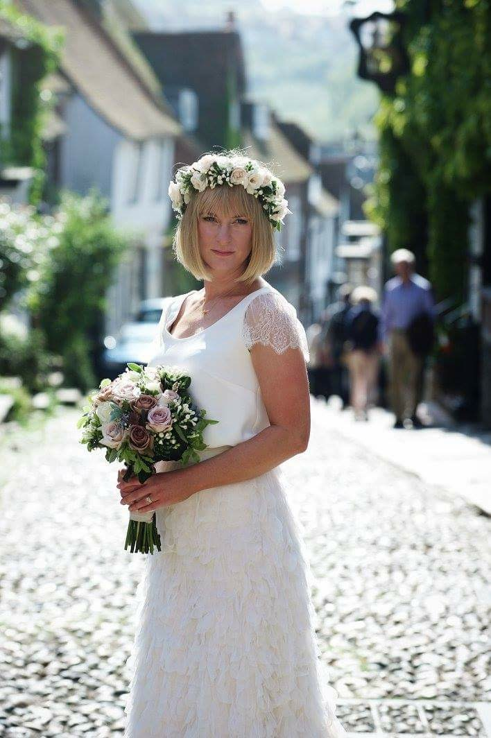 Lovely Rebecca - A real Halfpenny London bride with her perfect wedding dress