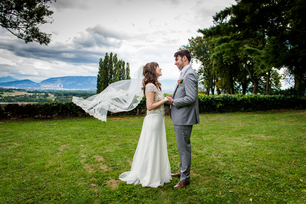 Beautiful Ella wore the beaded Marianne dress by Halfpenny London on her wedding day