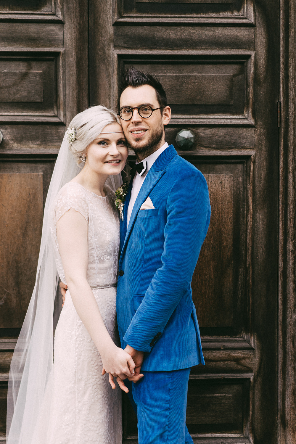 Beautiful Delia wears the Halfpenny London Lydia sequin blush slash neck dress with puddle train