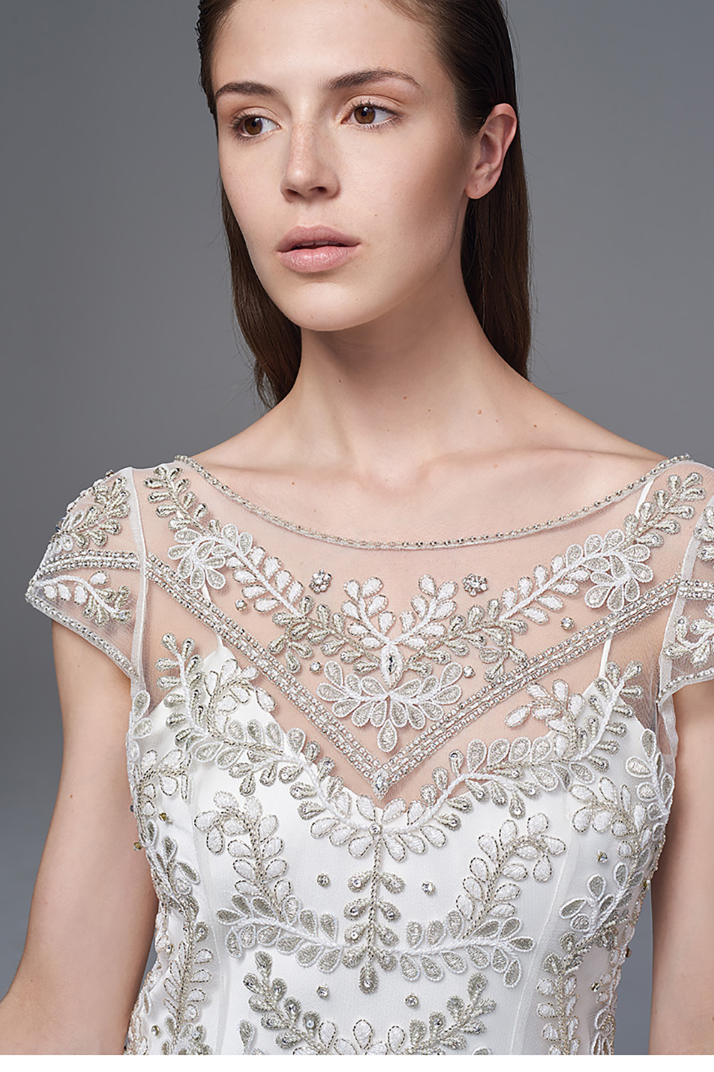 e1fe4877d5c7 ... CLASSIC IRIS SLIP. BRIDAL WEDDING DRESS BY HALFPENNY LONDON. THE  MARIANNE HAND BEADED AND EMBROIDERED DRESS WITH A LOW V BACK AND DROP WAIST  WORN