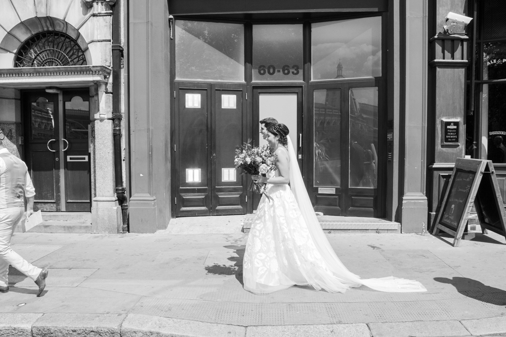 Clare wears a wedding dress by Halfpenny London - image by Jennifer Langridge Magpie-Eye Photography
