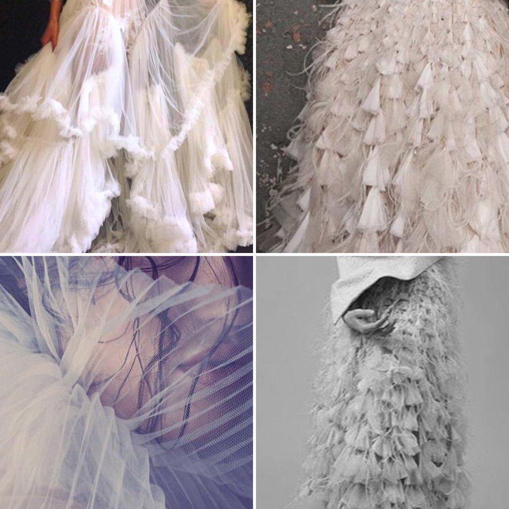 Tassels, feather, fringing, pleats....
