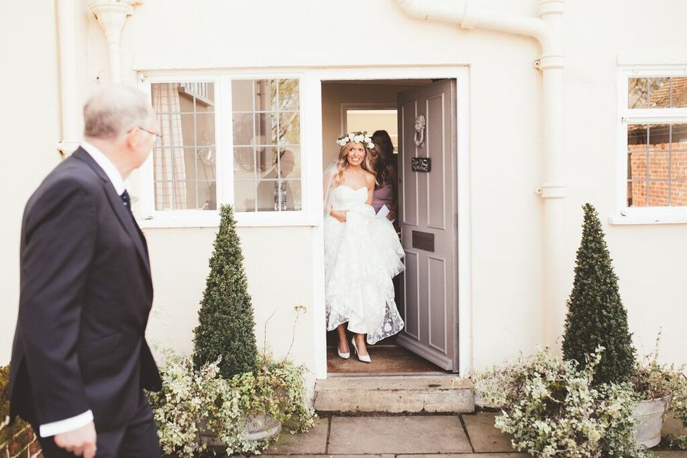 Gorgeous bride Kate wears a wedding dress by Halfpenny London