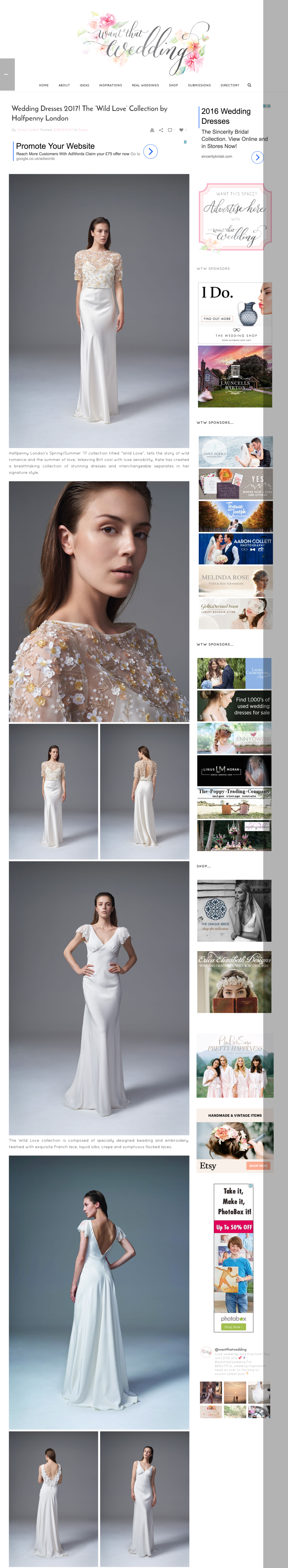 Want that wedding - Wedding Dresses 2017  The  Wild Love  Collection by Halfpenny London.png