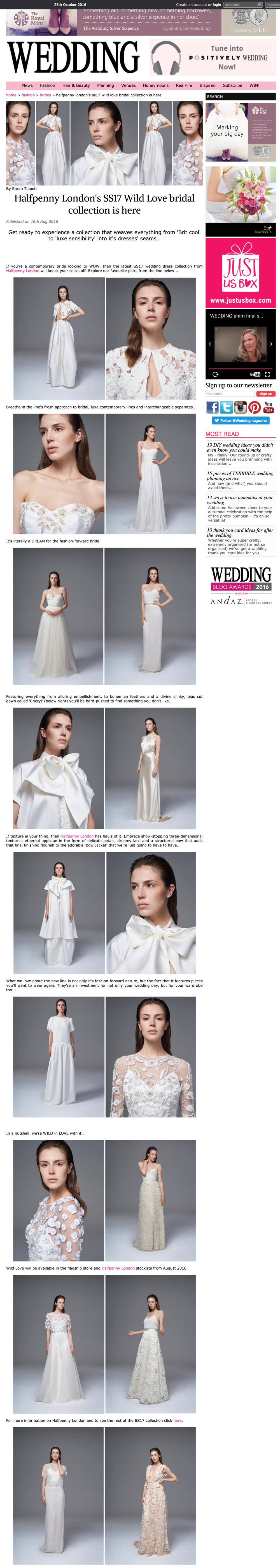 Wedding Magazine - Halfpenny London s SS17 Wild Love bridal collection is here.png