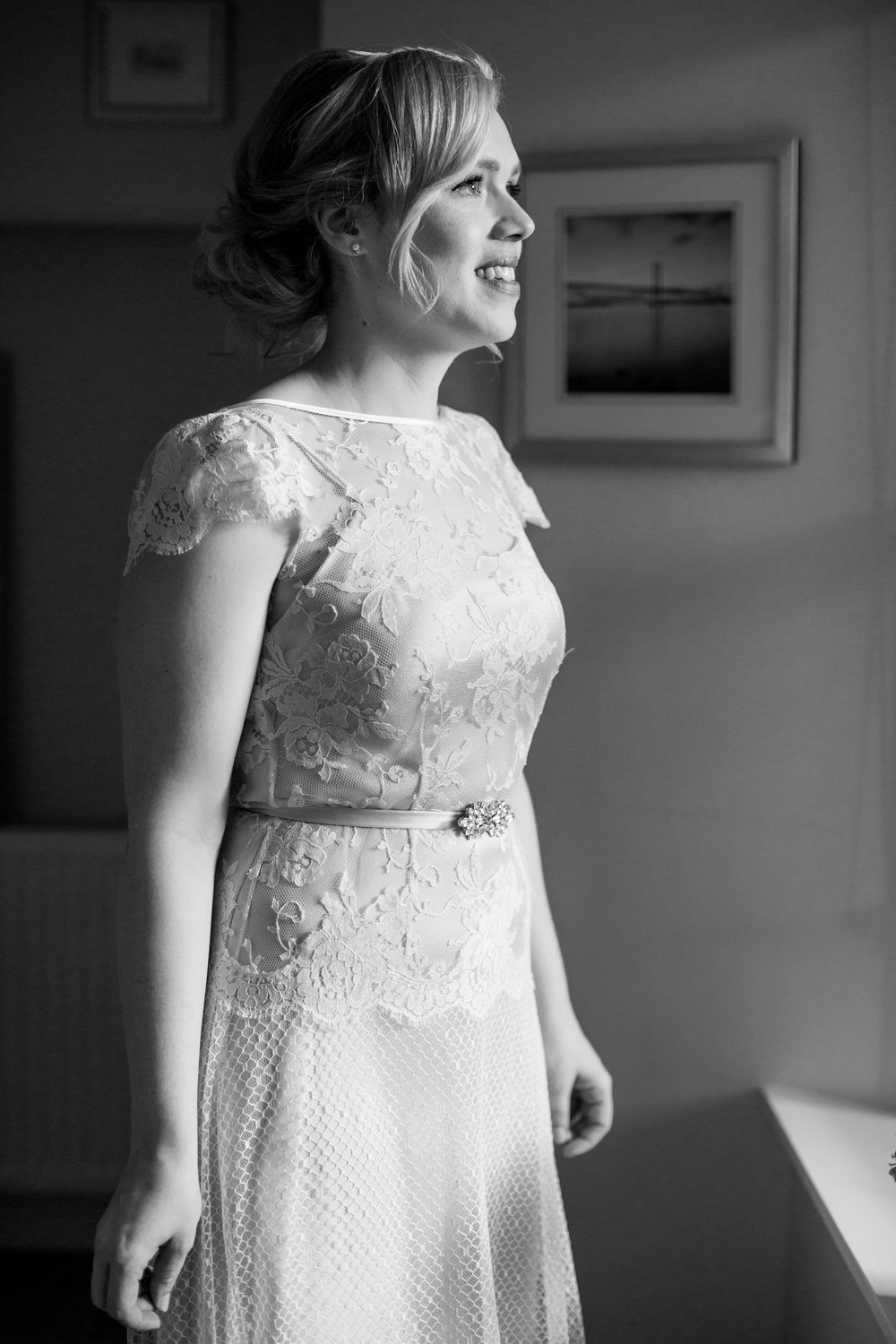Gorgeous bride Terese wears a wedding dress by Halfpenny London