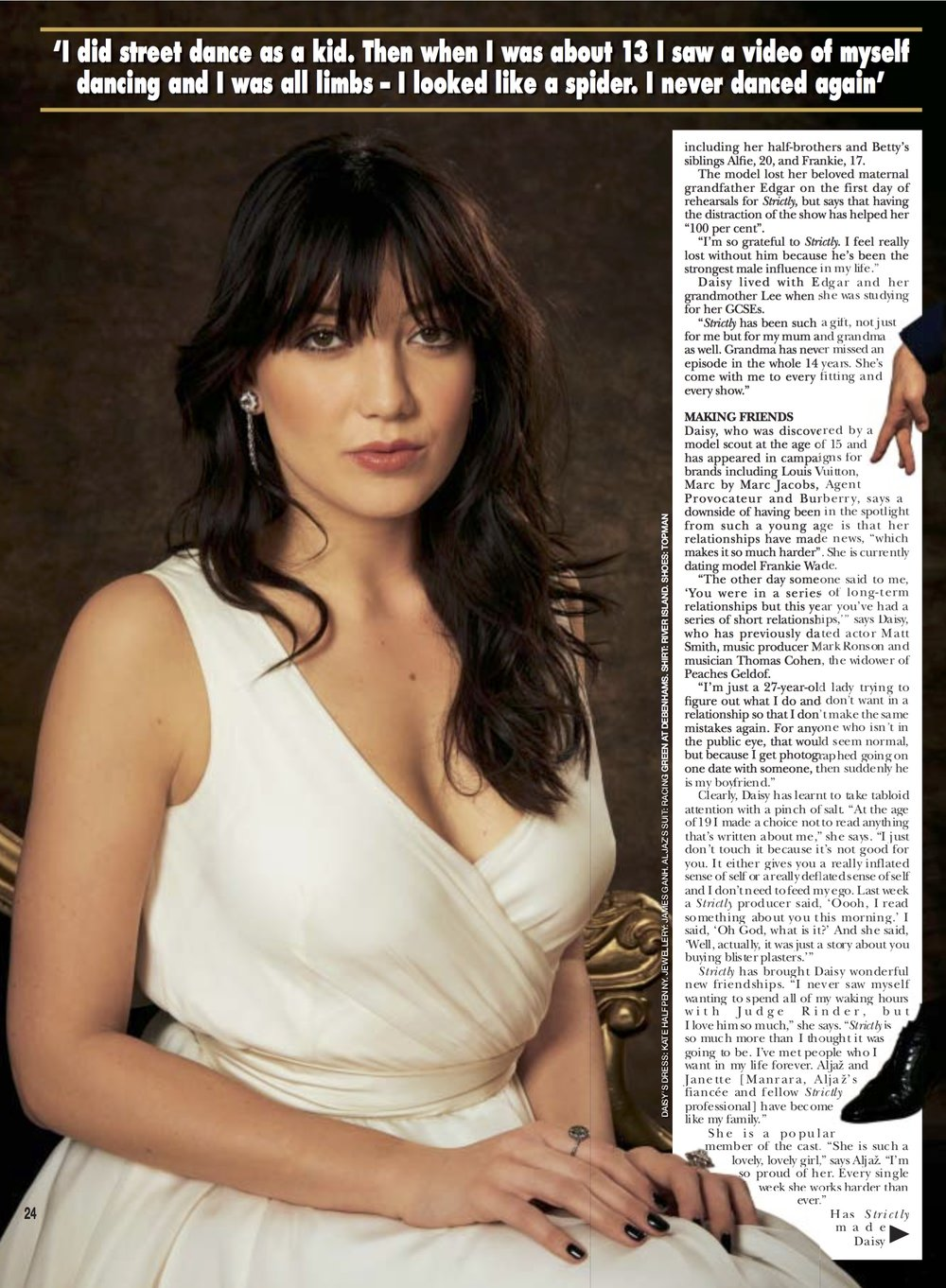 Daisy Lowe wears a Halfpenny London dress in HELLO! Magazine