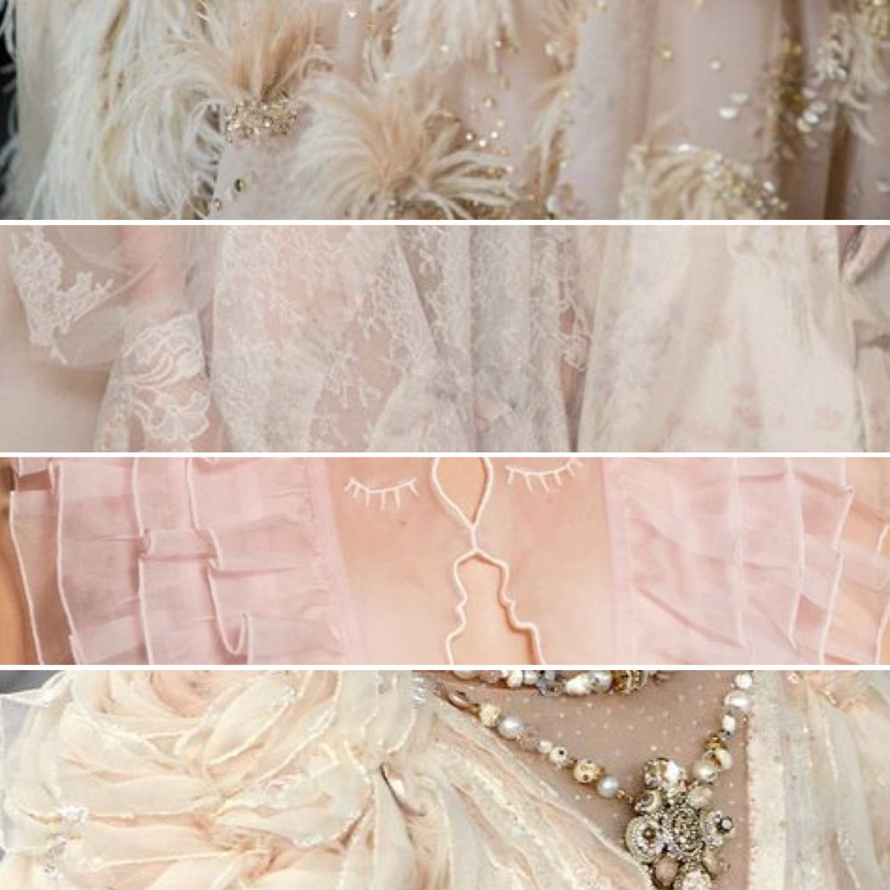 Feathers, lace, ruffles... I'm in heaven.