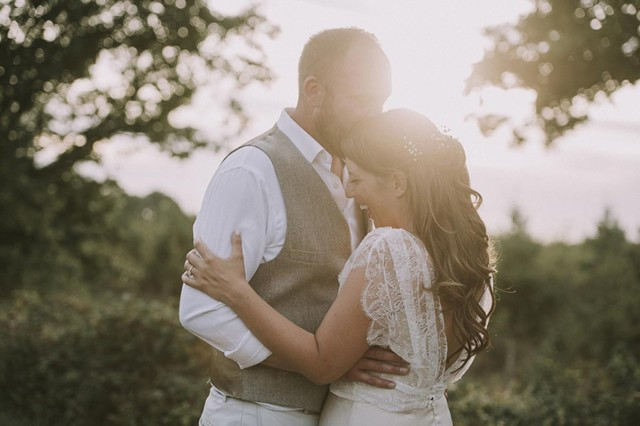 Gorgeous bride Charlotte wore a wedding dress by Halfpenny London